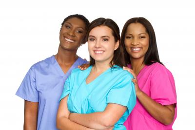 multi ethnic group of nurses